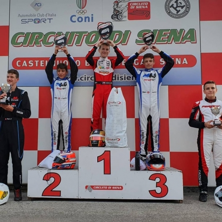 Adam Kowalski na italském šampionátu Easykart